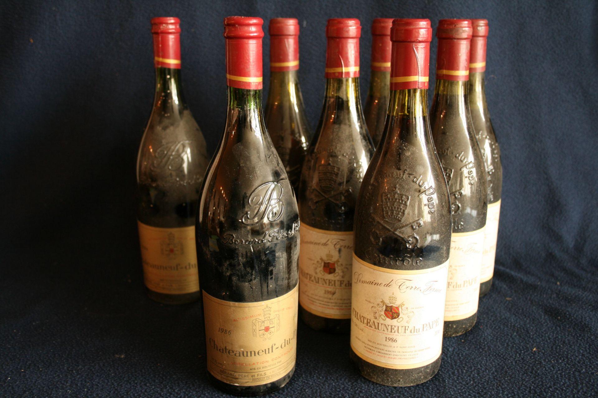 6 Bouteilles de CHATEAUNEUF du PAPE, Domaine de Terre Ferme, 1986, Pierre et Jacques [...]