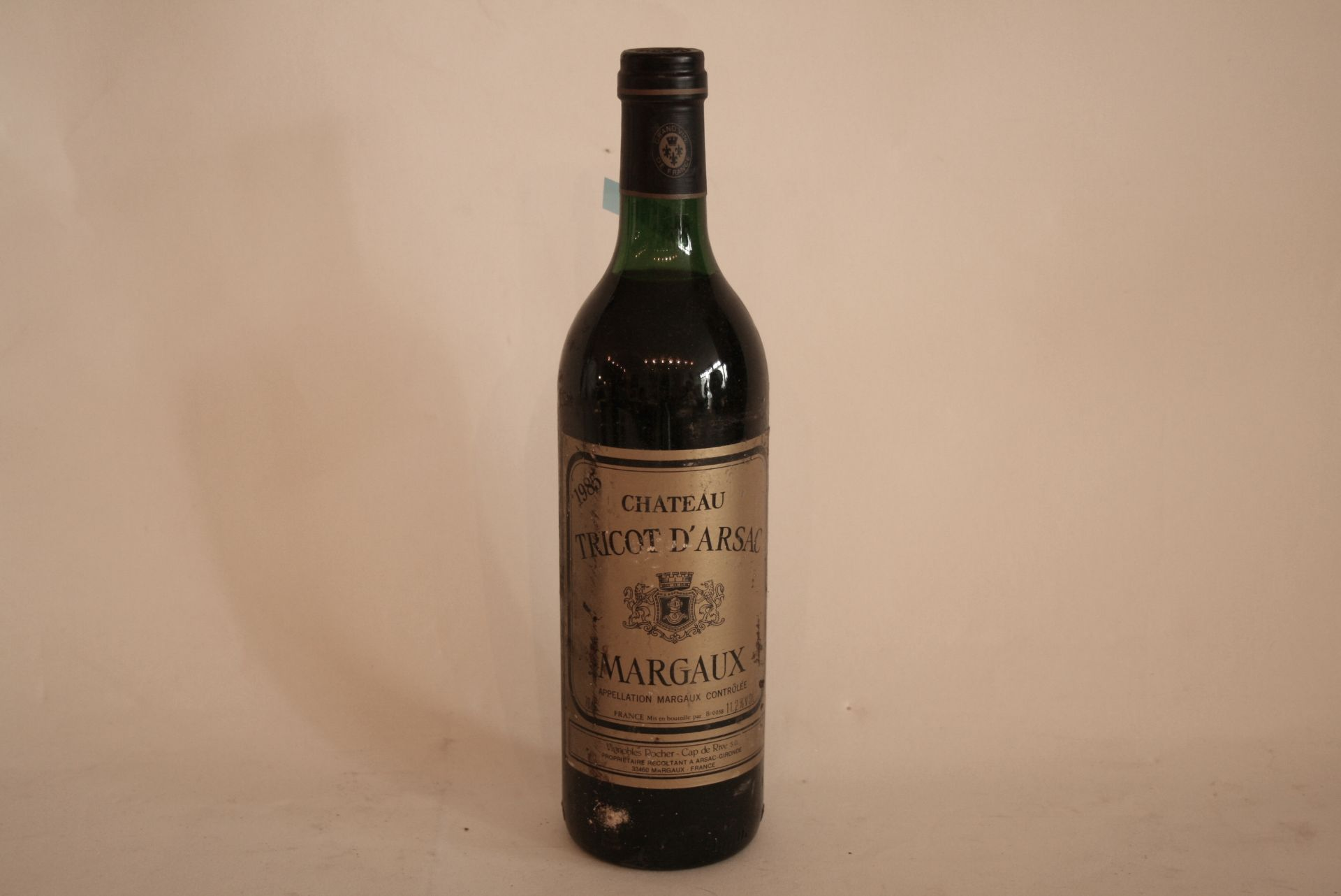 1 Bouteille de MARGAUX, Château TRICOT D'ARSAC, Rouge, 1985 - 1 Bottle of MARGAUX, [...]