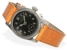 """Armbanduhr: sehr seltene kleine """"Huber Nautica"""" in Edelstahl, 30er Jahre Ca. Ø28mm, Edelstahl,"""