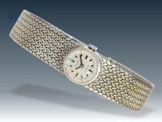 Armbanduhr: weißgoldene vintage Damenuhr, um 1960 Ca. 19cm lang, ca. 31,7g, 14K Weißgold,