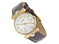 Armbanduhr: außergewöhnliche und seltene Longines Herrenuhr von 1953 Ca. Ø29mm, 14K Gold,