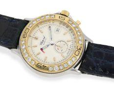 """Armbanduhr: Luxuriöser Damen-Chronograph mit Brillantbesatz, Chopard """"Mille Miglia"""" Gold/Edelstahl"""
