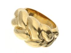 Ring: massiver vintage Goldring Ca. Ø15mm, RG47, ca. 10,5g, 18K Gold, massive vintage Handarbeit,