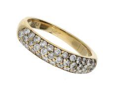 Ring: hochwertiger und ehemals sehr teurer Goldschmiede-Brillantring, 0,73ct Ca. Ø17mm, RG64, ca.