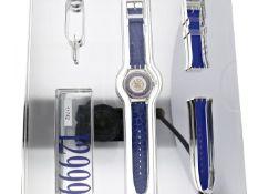 """Armbanduhr: vintage Swatch-Rarität, limitierte """"Tresor Magique Ref. SAZ 101 Automatic"""" in Platin mit"""