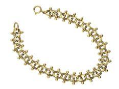 Armband: außergewöhnliches vintage Goldarmband Ca. 18,5cm lang, ca. 14g, 14K Gold, ca. 11mm breit,