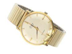 Armbanduhr: vintage Herrenuhr Stowa Extra Automatic, 14K Gold, 60er Jahre Ca. Ø34mm, massives 14K