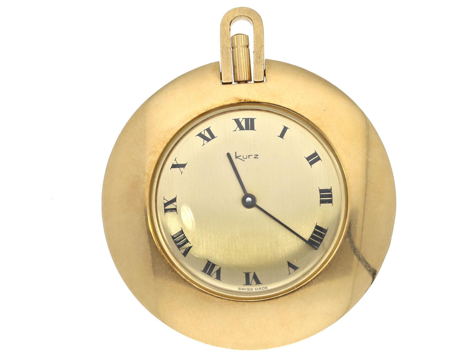 Los 6001 - Taschenuhr/Anhängeuhr: seltene, vintage Anhängeuhr von Chopard, Sondermodell für Juwelier Kurz, ca.