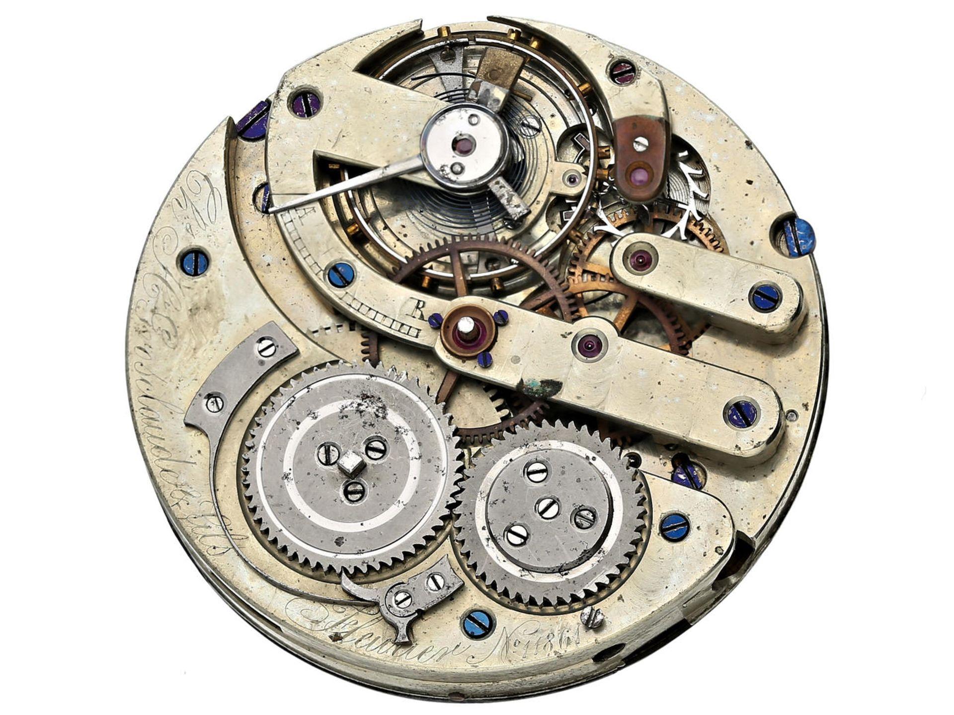 Los 6050 - Taschenuhr: hochwertiges Taschenuhrwerk, Ankerchronometer, Charles Henri Grosclaude & Fils, Fleurier