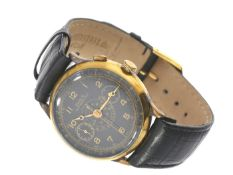 Armbanduhr: seltener, großer, vermutlich militärischer Chronograph von Doxa, vermutlich um 1945