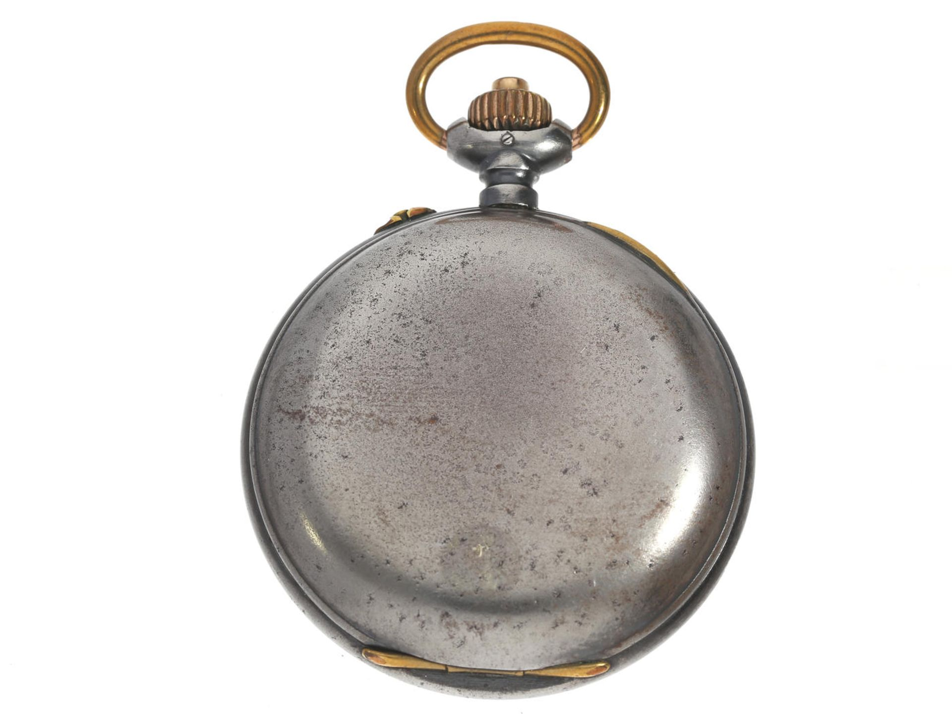 """Los 6053 - Taschenuhr: interessanter, seltener Schweizer Chronograph """"Compteur"""" mit seltenem Präzisionskaliber,"""
