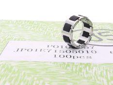 Ring: neuwertige, ungetragene, originalverpackte Partie Designerringe, s.Oliver Herren-Edelstahl-