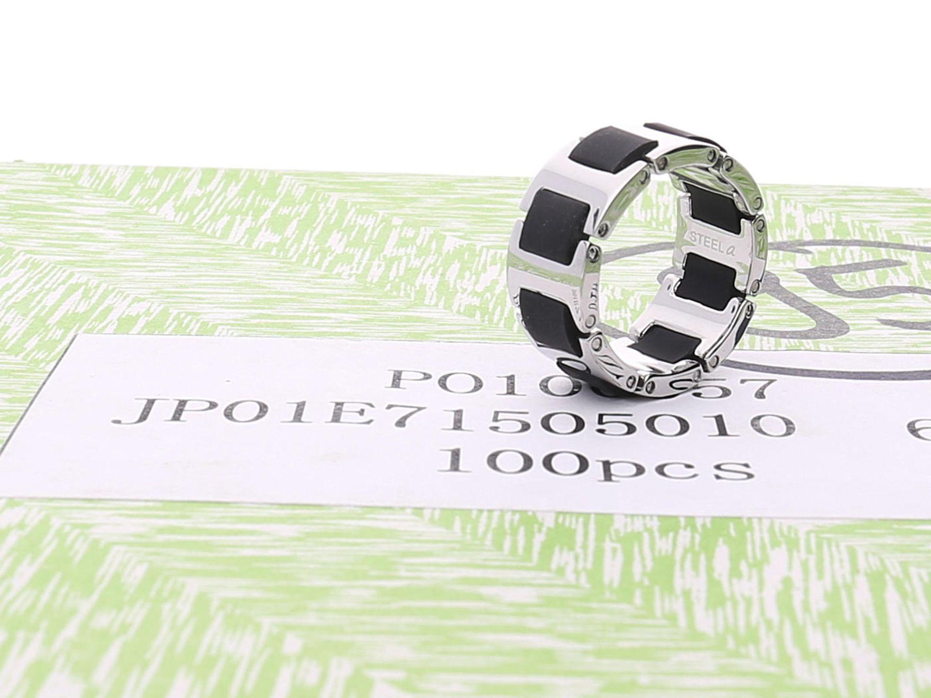 Los 6034 - Ring: neuwertige, ungetragene, originalverpackte Partie Designerringe, s.Oliver Herren-Edelstahl-