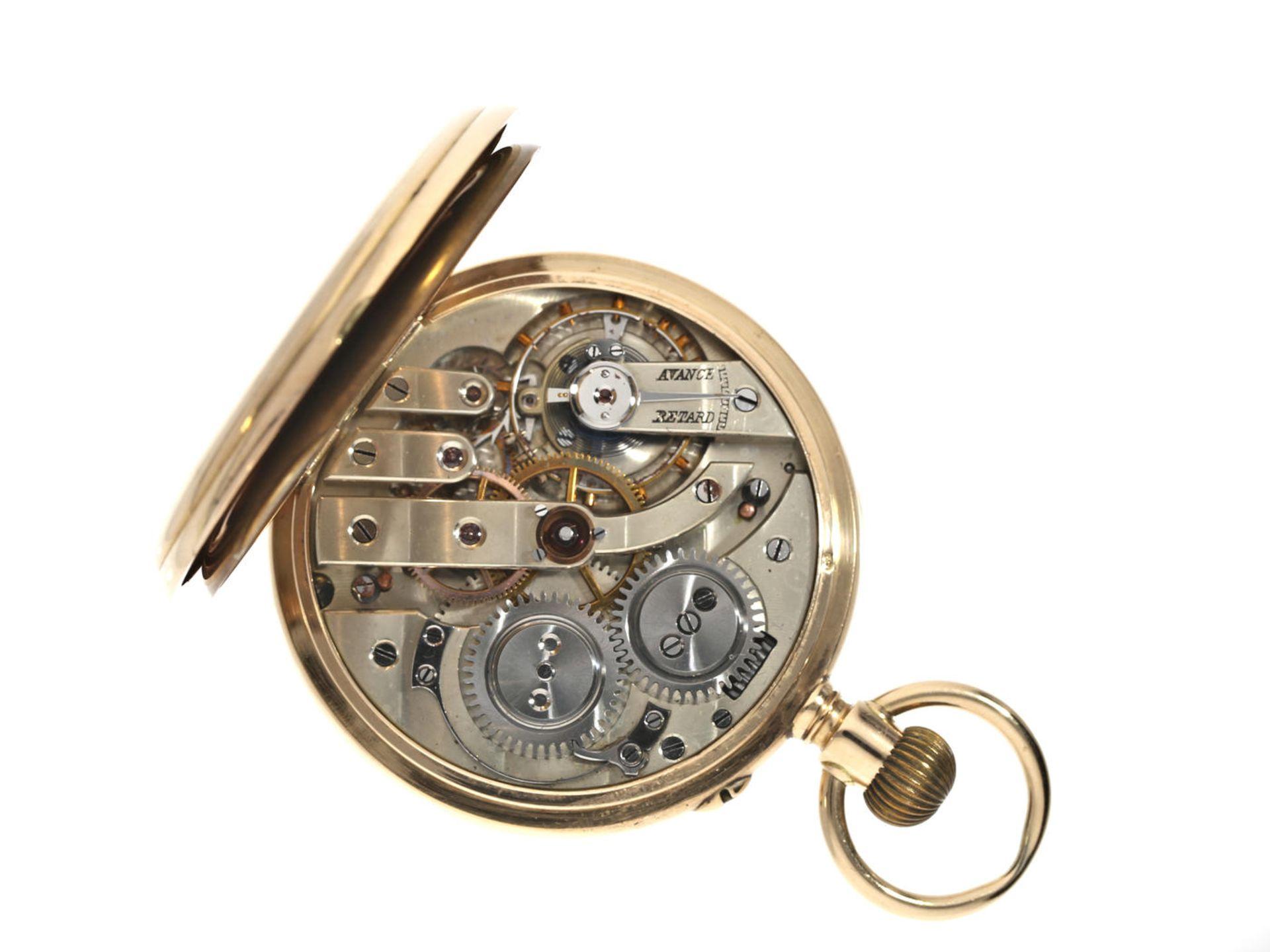 Taschenuhr: feine goldene Taschenuhr, Ankerchronometer, Vve. Henri Monney Biel, Schweiz um 1890 - Bild 2 aus 3