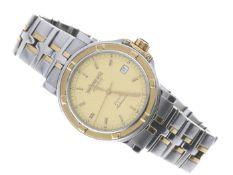 Armbanduhr: ehemals teure Herrenuhr, Raymond Weil Parsival Automatic mit kompletten Papieren und