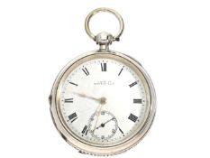 Taschenuhr: amerikanische Taschenuhr für den englischen Markt, Waltham No.9380573, Hallmarks 1903