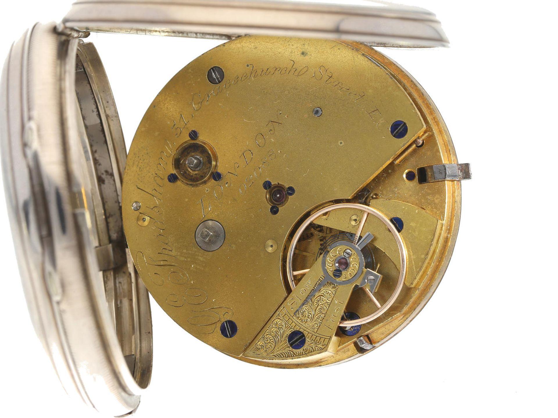 Taschenuhr: früher Chronograph feiner Qualität, signiert Frodsham London, Hallmarks 1853 Ca. - Bild 3 aus 3