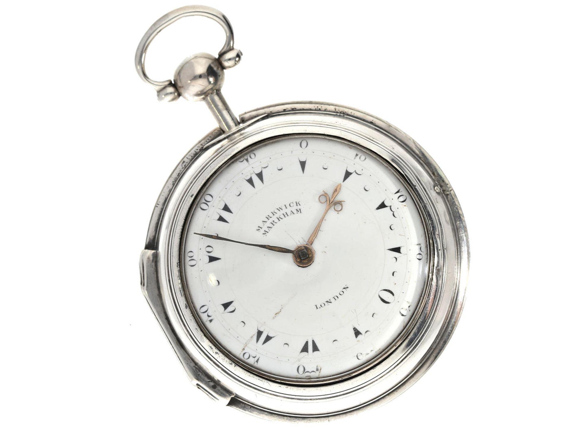 Los 6057 - Taschenuhr: seltene englische Doppelgehäuse-Spindeluhr für den osmanischen Markt, Markwick Markham