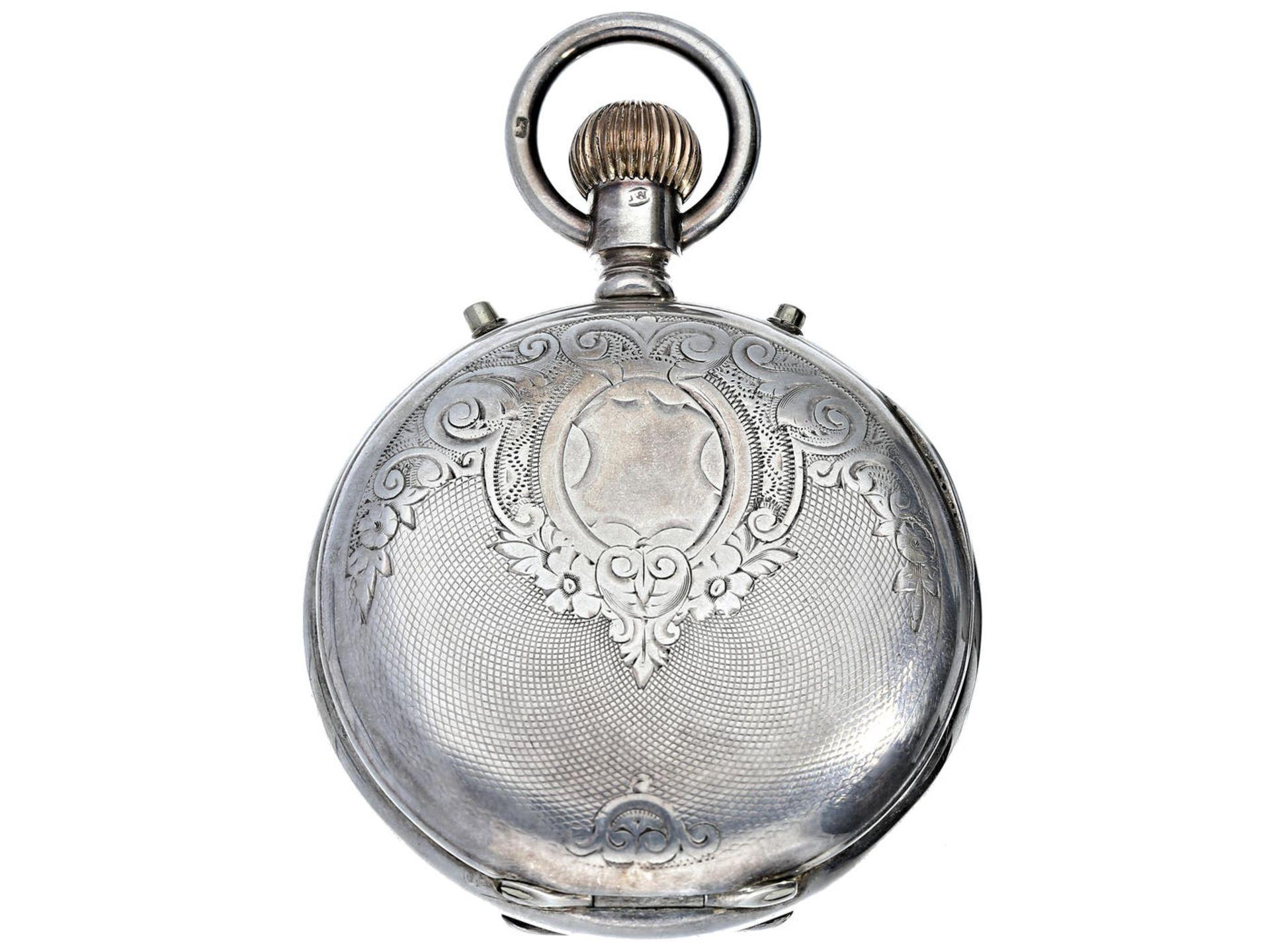 Los 6047 - Taschenuhr: seltenes und interessantes englisches Beobachtungschronometer mit Chronograph und