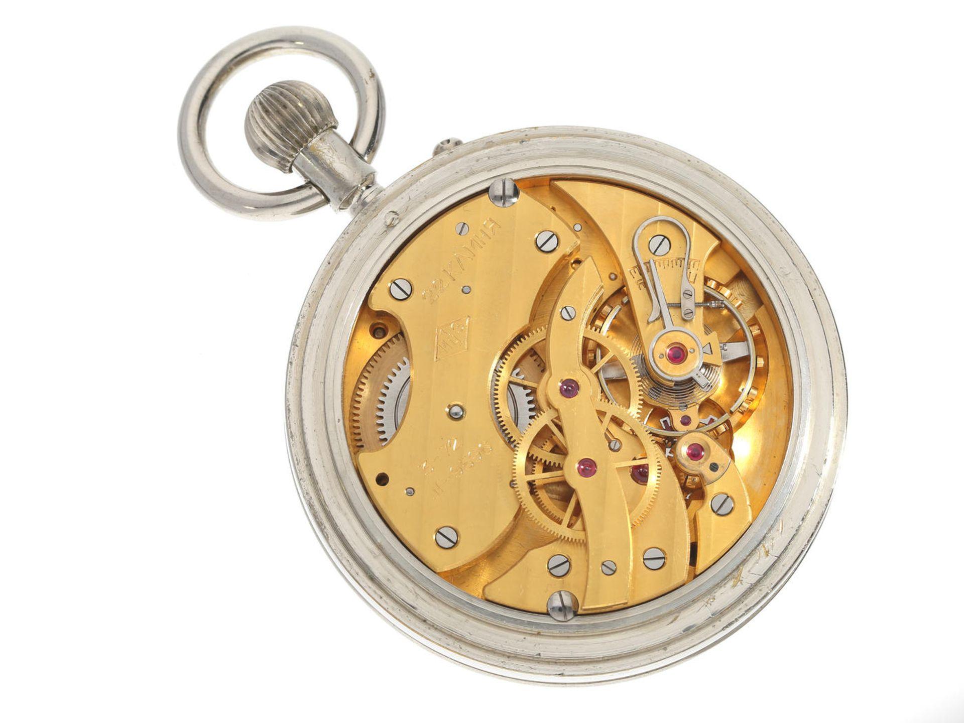 Taschenuhr/Beobachtungsuhr: russisches Beobachtungschronometer in sehr gutem Zustand, 1. Moskauer - Bild 2 aus 3