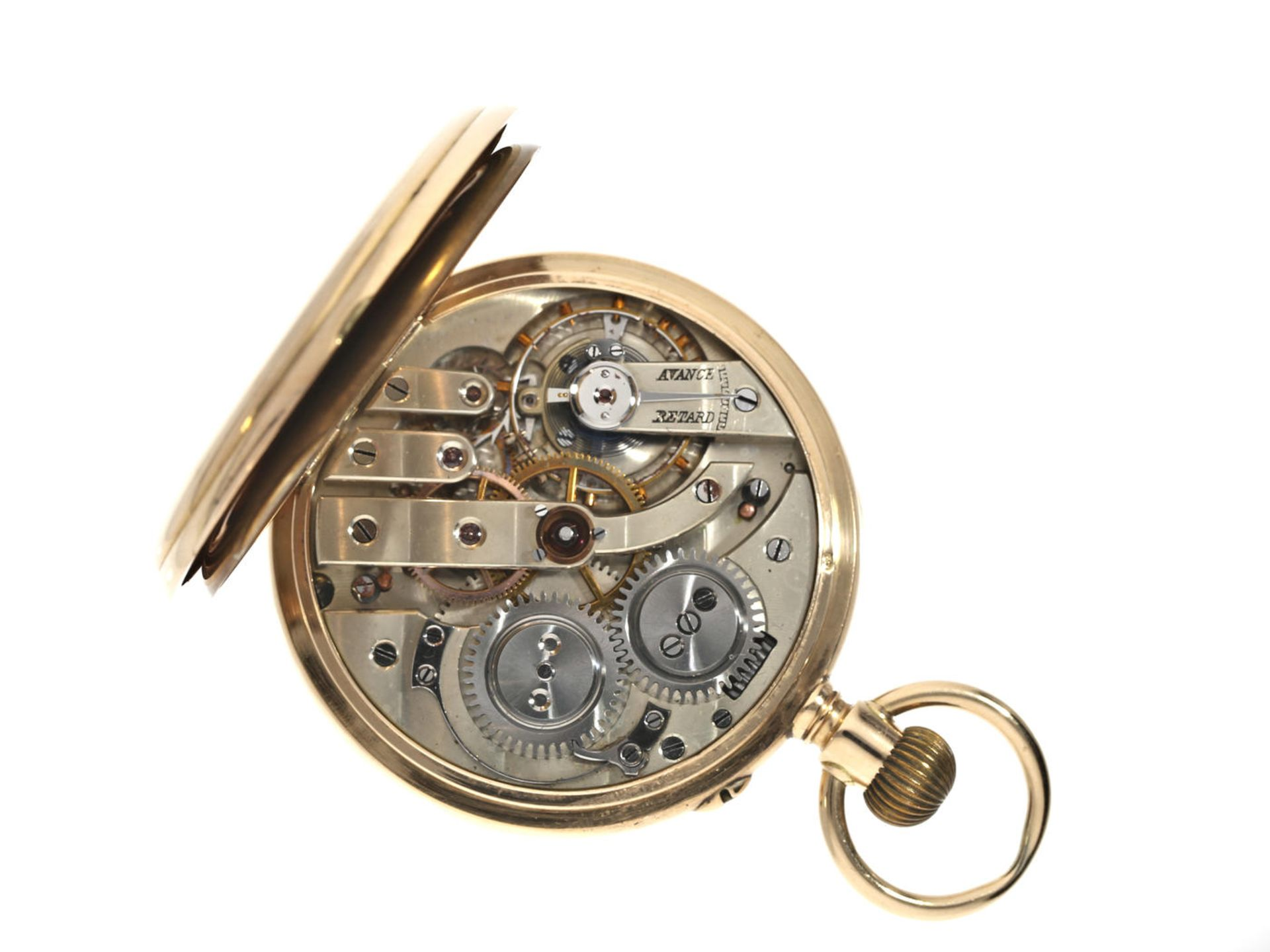 Taschenuhr: feine goldene Taschenuhr, Ankerchronometer, Vve. Henri Monney Biel, Schweiz um 1890 - Bild 3 aus 3