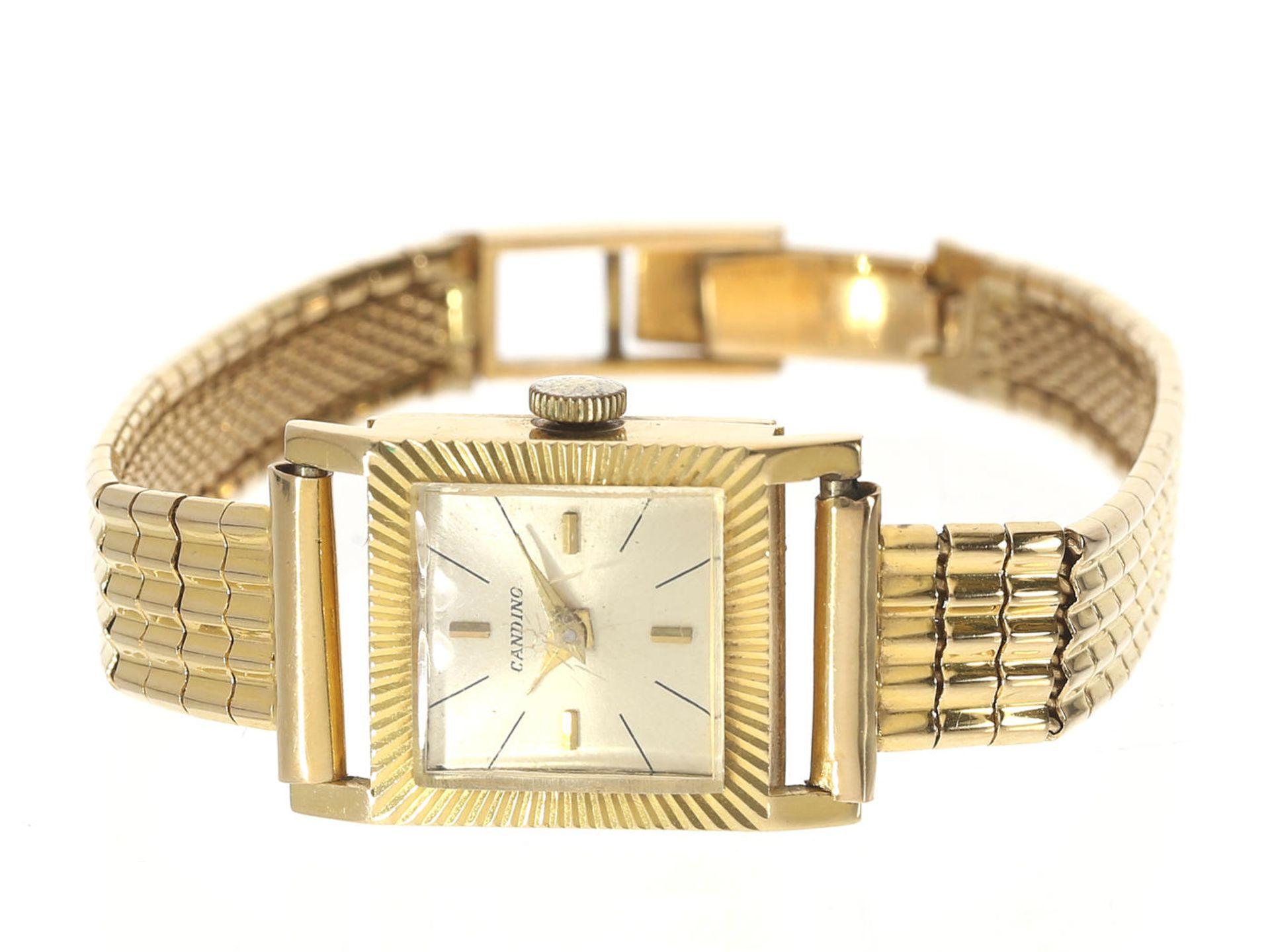 Armbanduhr: vintage Damenuhr der Marke Candido, Ref.5072 mit Originalpapieren von 1963 Ca. 16 × - Bild 3 aus 3