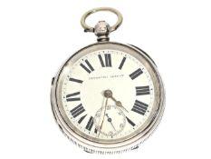 """Taschenuhr: schwere englische Taschenuhr """"Improved Patent"""", Hallmarks 1895 Ca. Ø55mm, ca. 150g,"""