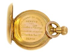 Taschenuhr/Anhängeuhr: Rarität, 19mm-Miniaturuhr, Horloger de la Marine, Victor Fleury & Cie., 23