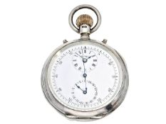Taschenuhr: seltenes und interessantes englisches Beobachtungschronometer mit Chronograph und