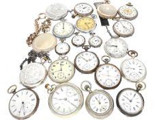 Taschenuhr: kleine Sammlung Taschenuhren, von antik bis vintage 27 Stück von ca. 1870 bis ca.