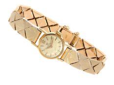 Armbanduhr: goldene vintage Omega Damenuhr, ca.1960 Ca. 18cm lang, ca. 26g, Gehäuse aus 18K Gold,