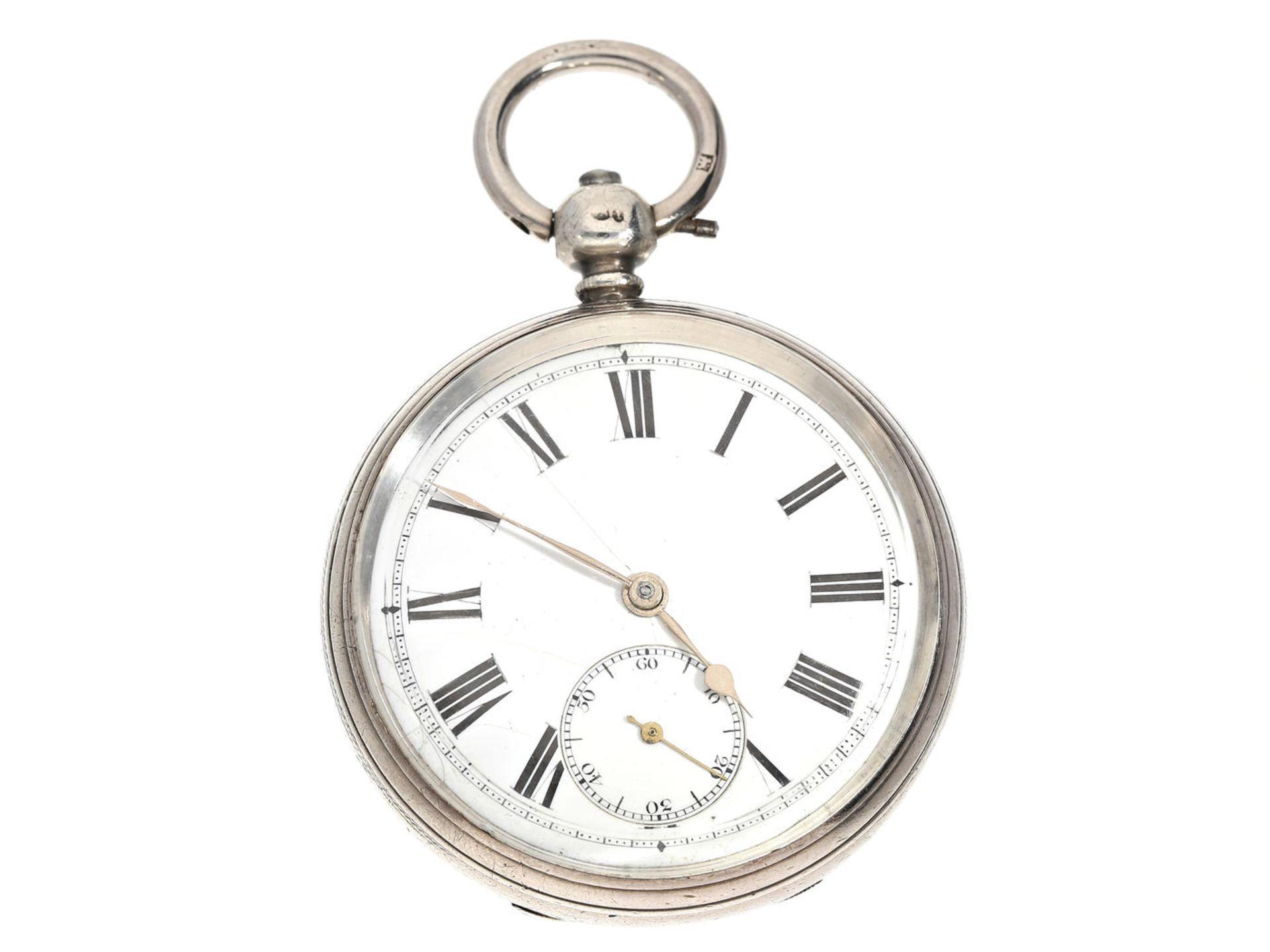 Taschenuhr: englische Taschenuhr mit Kette und Schnecke, Hallmarks 1865 Ca. Ø51mm, ca. 118g,