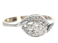 Ring: vintage Goldschmiedering mit Diamanten, vermutlich um 1970 Ca. Ø20mm, RG63, ca. 3,5g, 14K