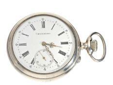 Taschenuhr: besonders schweres und hochfeines Schweizer Taschenchronometer mit Chronometerhemmung,