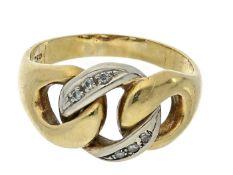 Ring: vintage Diamantring, 50er Jahre Ca. Ø19,5mm, RG61, ca. 7,9g, 18K Gold, Diamantbesatz,