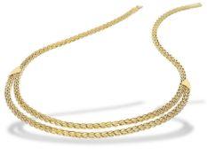 Kette: außergewöhnliches vintage Goldcollier Ca. 40cm lang, ca. 27,5g, 14K Gold, sehr guter Zustand,