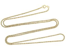 Kette/Collier: ungetragene, lange 14K Goldkette im ZopfmusterCa. 80cm lang, ca. 12g, 14k Gelbgold,