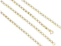 Kette/Collier: solide, außergewöhnliche GoldketteCa. 79cm lang, ca. 19,1g, 8K Gold, ca. 4,5mm breit,