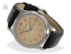 """Armbanduhr: vintage IWC Herrenuhr in Stahl mit sog. """"tropical salmon dial"""", Schaffhausen 1957Ca."""