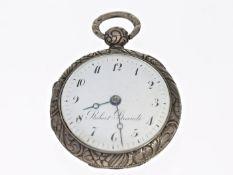 Taschenuhr: seltene Spindeluhr, signiert Robert Brandt, um 1820Ca. Ø41mm, ca. 50g, dekoratives