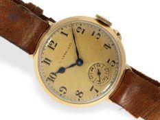 Armbanduhr: äußerst seltene, frühe Herrenarmbanduhr um 1920, L. Leroy & Cie, Horlogers de la Marine,