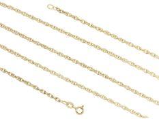 Kette/Collier: ungetragene, sehr lange GoldketteCa. 90cm lang, ca. 15,9g, 14K Gelbgold, ca. 3mm
