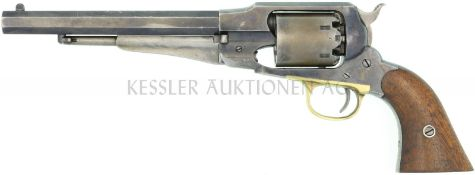 Perkussionsrevolver, Remington 1858 New Model Army, Kal. .44 LL 202mm, streichbrünierte