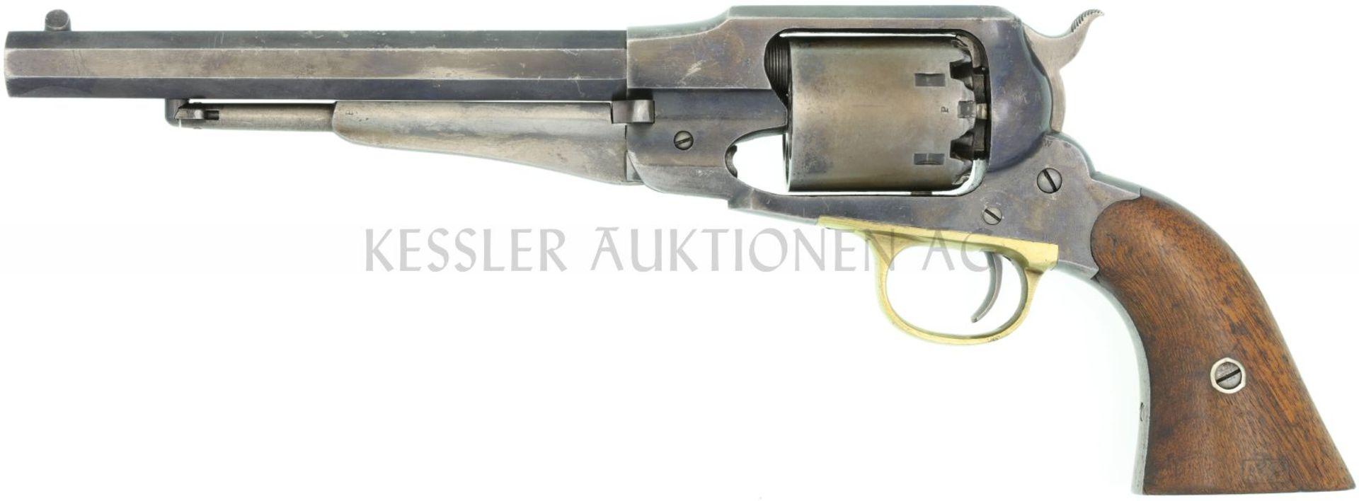 Perkussionsrevolver, Remington 1858 New Model Army, Kal. .44 LL 202mm, streichbrünierte