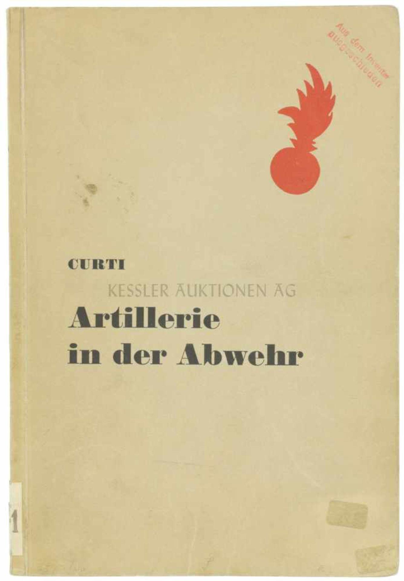 Artillerie in der Abwehr Autor P. Curti, Verlag von Huber & Co., Frauenfeld und Leipzig, 1940, 202