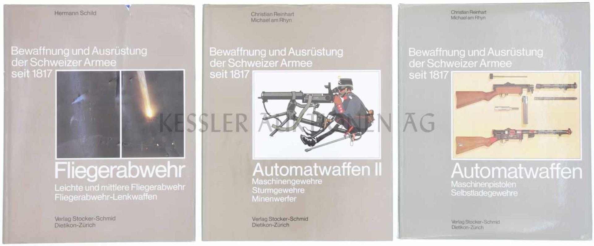 Los 28 - Konvolut von 3 Büchern, Bewaffnung und Ausrüstung der Schweizer Armee seit 1817 1. Band 12,