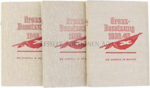 Die Schweiz in Waffen, Grenzbesetzung Bd.1 Grenzbesetzung 1939, Bd.2 Grenzbesetzung 1940, Bd.3