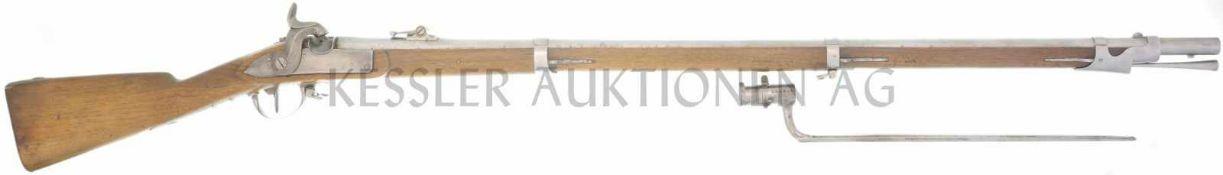 Perkussionsgewehr, Beuret Frères, Liége, Infanterie 1842/59, Kanton AR, Kal. 18mm LL 1050mm, TL