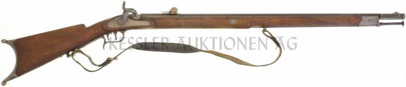 Feldstutzer 1851, Perkussionszündung, Beuret Frères, Luzerner Schlag, Kal. 10.4mm LL 813mm, TL 1260,