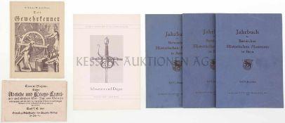 Konvolut 6 Bücher 1. Exercier-Büchlein, gedruckt zu Schaffhausen 1677, Nachdruck Nr. 836, Verlag